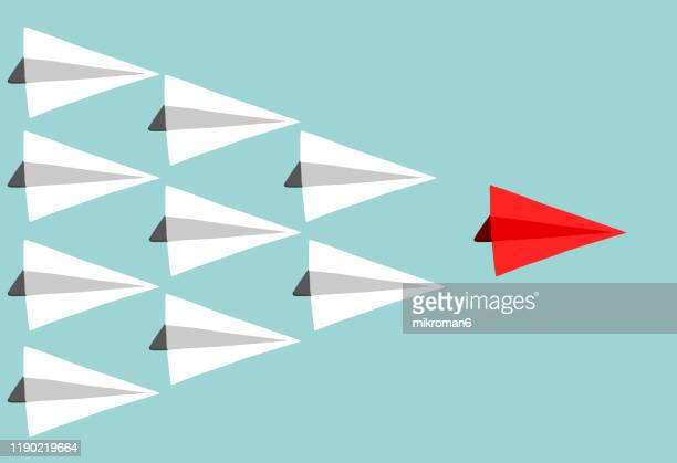 paper plane concept leading - inspiration stock pictures, royalty-free photos & images
