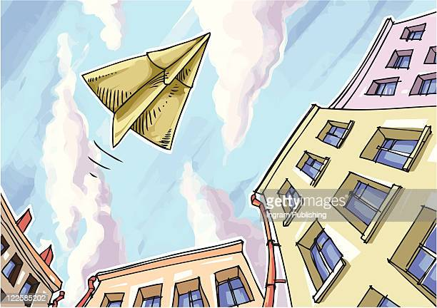 paper plane. - vector stock pictures, royalty-free photos & images