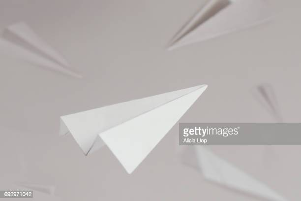 paper plane - paper airplane stock pictures, royalty-free photos & images