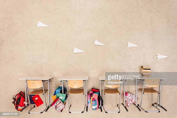 Paper planes in class room