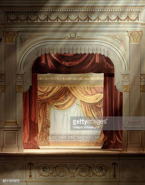 paper puppet theater - puppet show stock photos and pictures