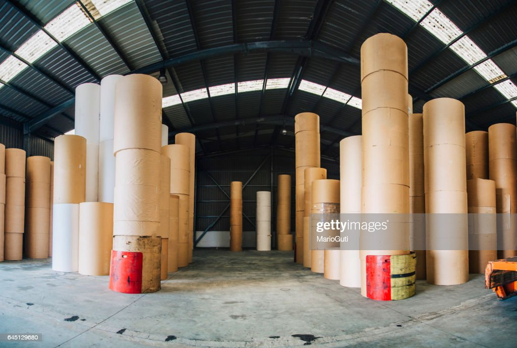 Paper roll warehouse : Stock Photo