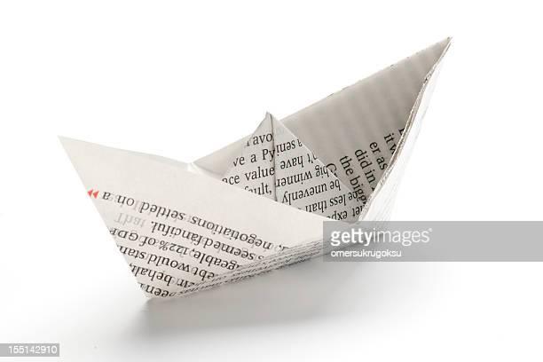 nave di carta - origami foto e immagini stock