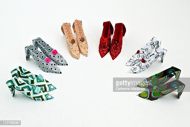 paper shoes - catherine macbride stock photos and pictures