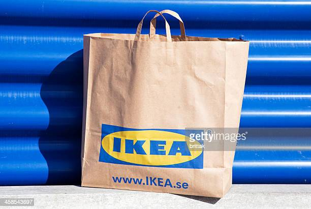Paper shopping bag from IKEA a big departmentstore in Sweden,