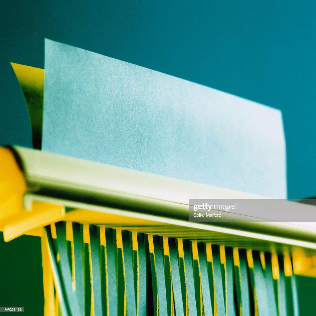 Paper Shredder Shredding Paper : Stock Photo