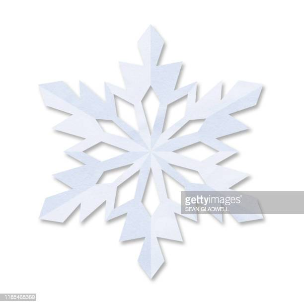 paper snowflake - snowflake stock pictures, royalty-free photos & images