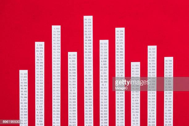 Paper Stripes and Data Composing Bar Graph