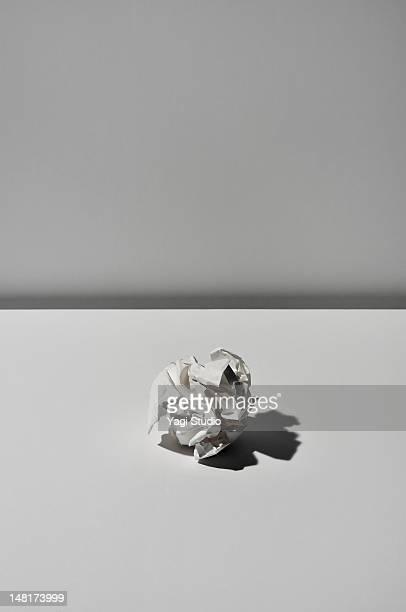 Paper trash on white background