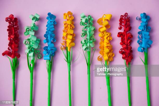 paper trees - art and craft stock pictures, royalty-free photos & images