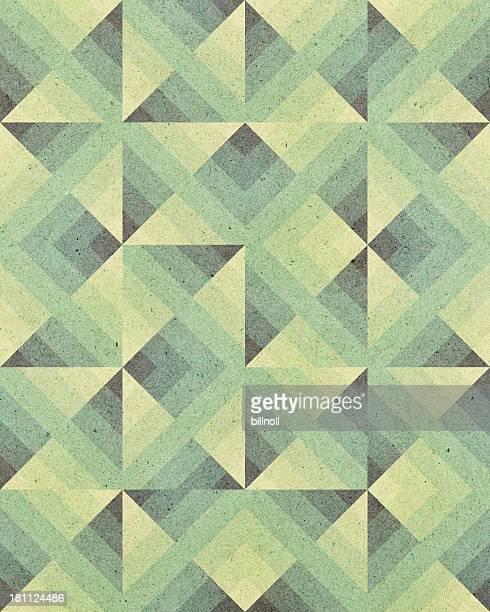 紙、アールデコの幾何学パターン