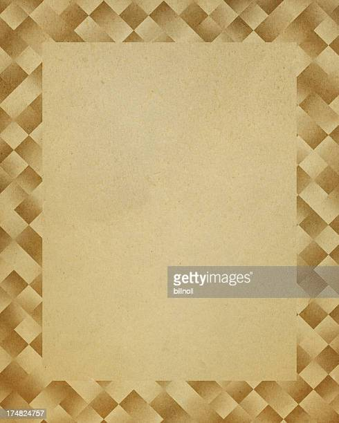 paper with geometric frame pattern