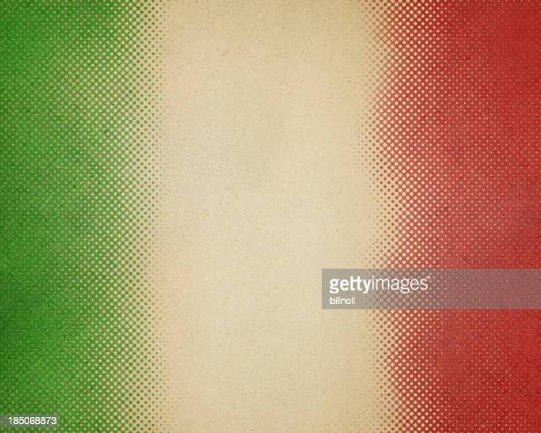 paper with green and red halftone