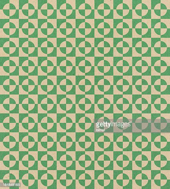 paper with green geometric pattern