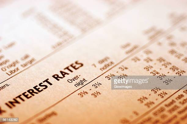"""paper with interest rates, close-up"" - interest rate stock pictures, royalty-free photos & images"