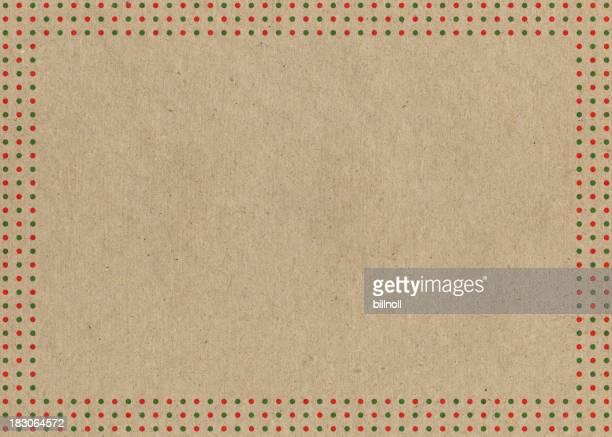 Papier avec rouge et vert frontière