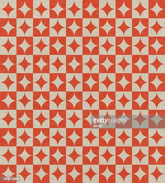 paper with retro geometric pattern