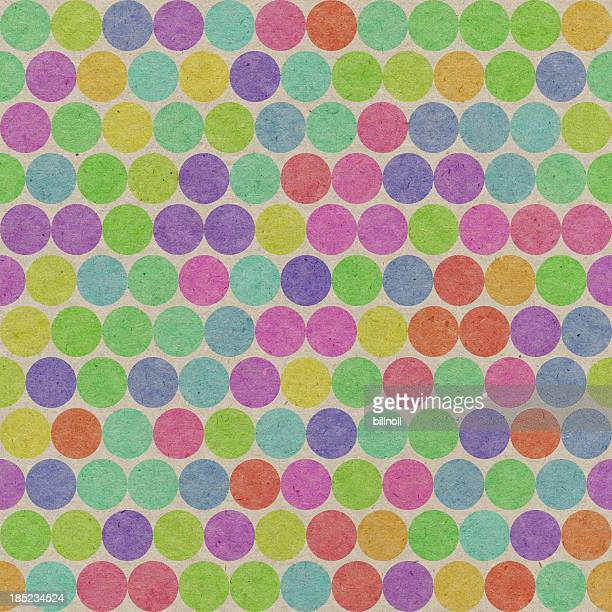 paper with seamless color dot pattern