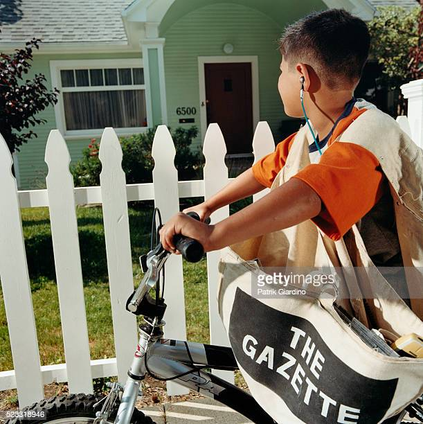 Paperboy Stopping at House