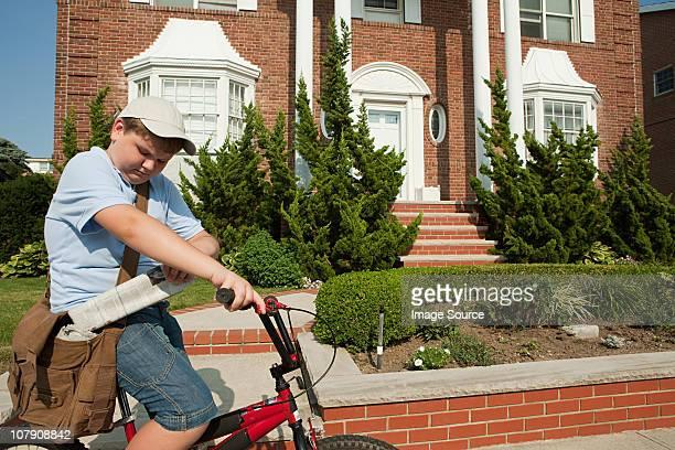 Paperboy 自転車の新聞をお届け