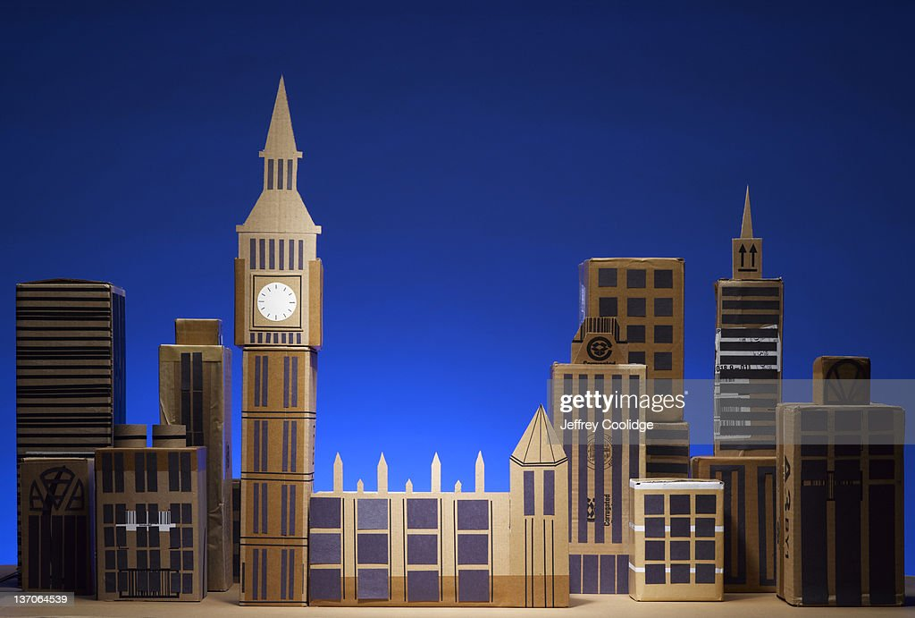 Papercraft Cityscape London : Stock Photo