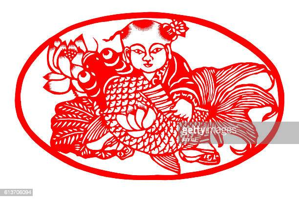 paper-cut of Chinese traditional culture