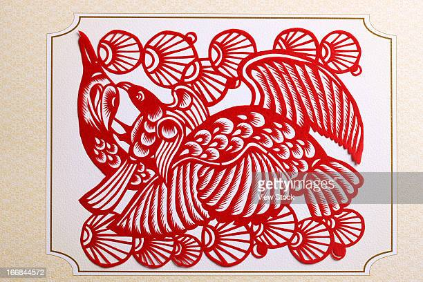 Paper-cutting of bird