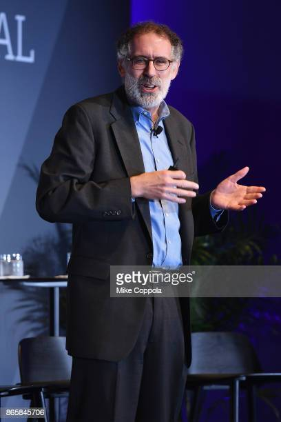 Papert Professor of Learning Research at MIT Media Lab Mitchel Resnick delivers a keynote onstage before the panel 'Cartoon Network on Why the Future...