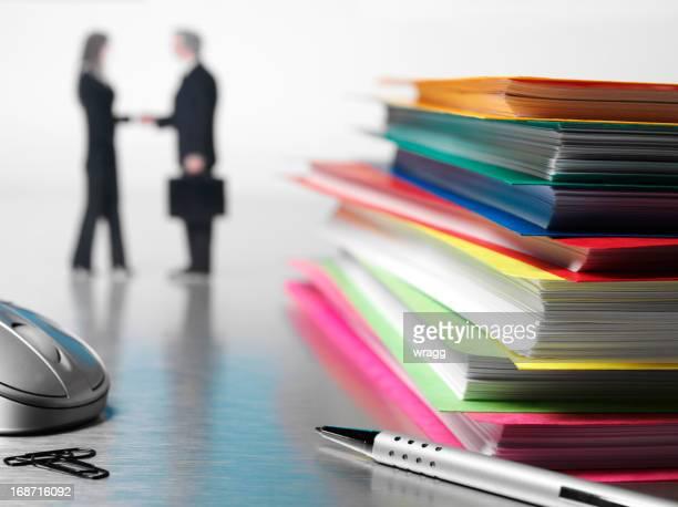 Paperasserie et de contrat