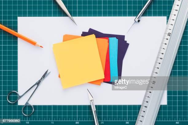 Paperwork Tools Tabletop View