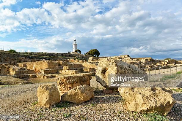 paphos archeological site - パフォス考古学公園 ストックフォトと画像
