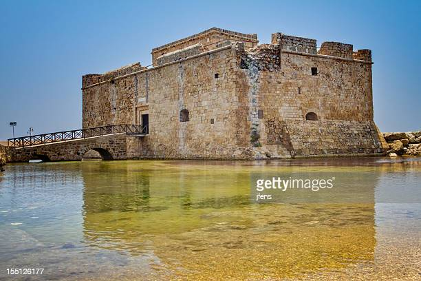 paphos castle (cyprus) - tower stock pictures, royalty-free photos & images