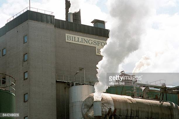 Papierfabrik BILLINGSFORS am Laxsjön Billingsfors Schweden