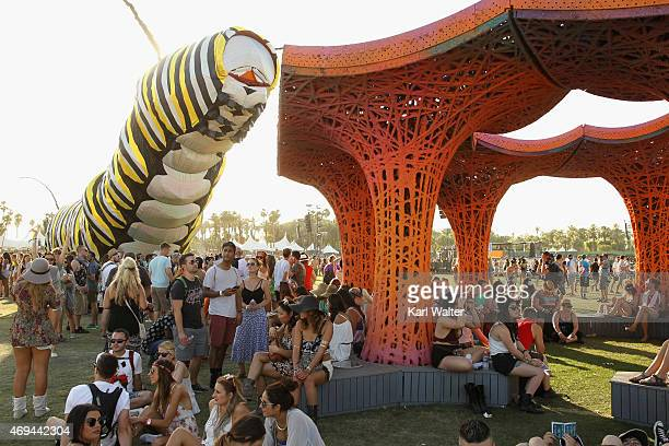 Papilio Merraculous art installation by Poetic Kinetics and Pulp Pavilion art installation by BallNogues Studio are seen during day 2 of the 2015...