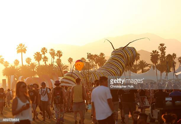 Papilio Merraculous art installation by Poetic Kinetics is seen during day 2 of the 2015 Coachella Valley Music Arts Festival at the Empire Polo Club...