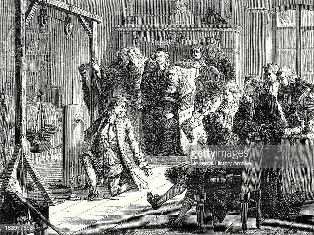 Papin Conducts An Experiment With His Powder Machine In Front Of The Professors Of The University Of Marburg