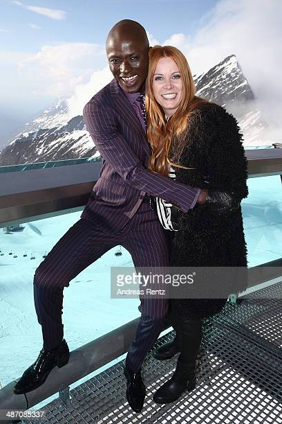 Papis Loveday and designer Rebekka Ruetz attend the Rebekka Ruetz Fashion Show at Top Mountain Star on April 26 2014 at Hochgurgl near Solden Austria