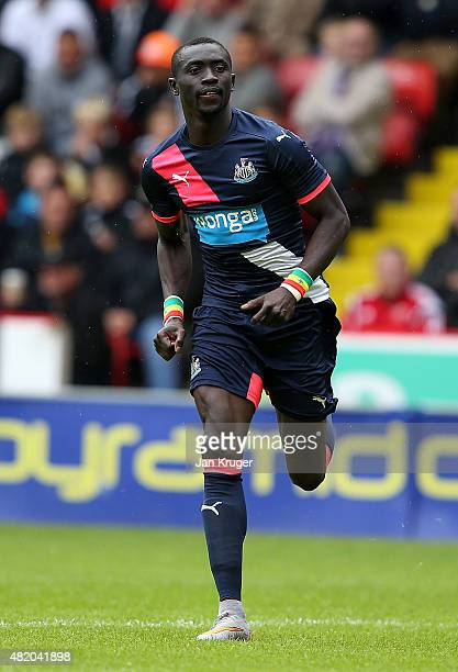 Papiss Cisse of Newcastle United during the pre season friendly match between Sheffield United and Newcastle United at Bramall Lane on July 26 2015...