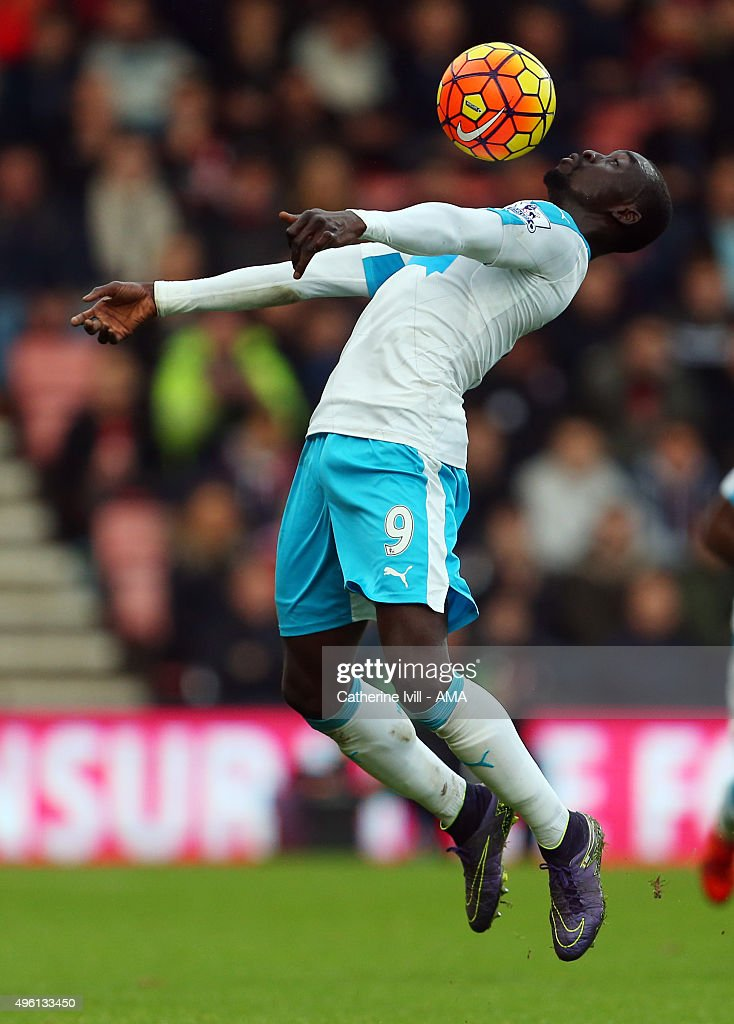 Papiss Demba Cisse of Newcastle United during the Barclays Premier League match between AFC Bournemouth and Newcastle United at Vitality Stadium on November 7, 2015 in Bournemouth, England.