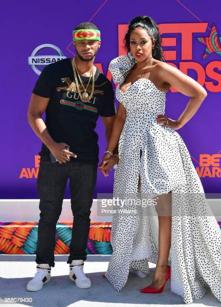 Papoose and Remy Ma arrive to the 2018 BET Awards held at Microsoft Theater on June 24, 2018 in Los Angeles, California.