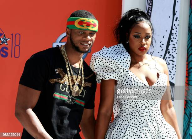 Papoose and Remy Ma attend the 2018 BET Awards at Microsoft Theater on June 24 2018 in Los Angeles California