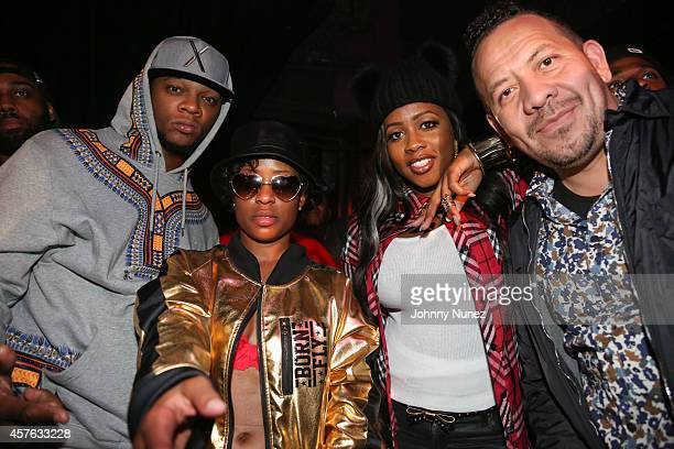 Papoose DeJ Loaf Remy Ma and Elliott Wilson attend DeJ Loaf in Concert at Santos Party House on October 21 2014 in New York City