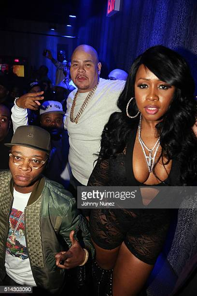 Papoose Fred The Godson Fat Joe and Remy Ma attend the Fat Joe Remy Ma Release Party at Club Aces on March 7 2016 in New York City