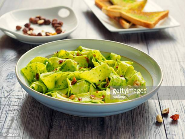pappardelle with parsley butter and hazelnuts