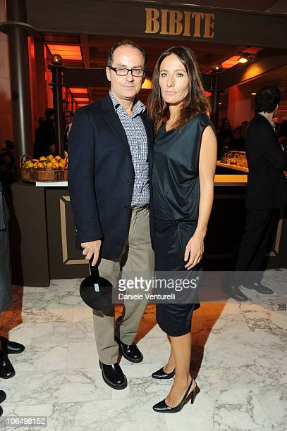 Pappi Corsicato and Maria Sole Tognazzi attends The Bulgari Express for Save The Children Cocktail Party at the Salone delle Fontane on November 3...