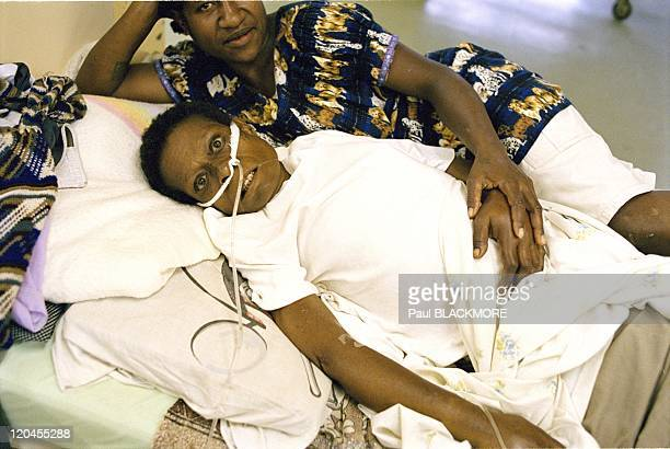 Papua in Papua New Guinea - Negife Tapa in Goroka Hospital. She had been raped and left in the jungle for days before she was found and taken to...