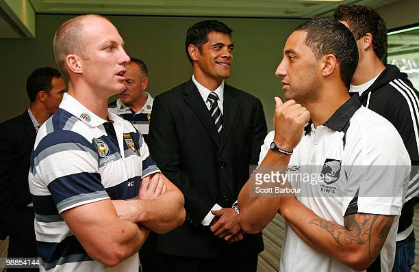 Papua New Guinea coach Adrian Lam Kangaroos captain Darren Lockyer Kangaroos coach Tim Sheens Kiwis coach Stephen Kearney Kiwis captain Benji...