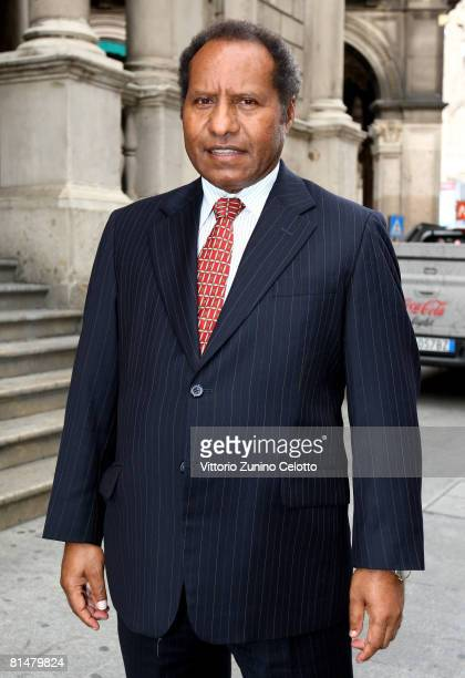 Papua New Guinea Foreign Minister Samuel T Abal attends the Italy Pacific Islands Forum held at Palazzo dei Giureconsulti on June 06 2008 in Milan...