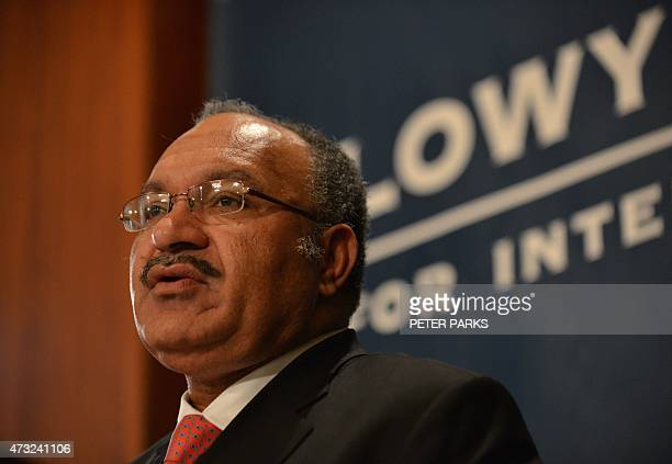 Papua New Guinea Prime Minister Peter O'Neill gives a talk at the Lowy Institute in Sydney on May 14 2015 O'Neill on May 14 said he was shocked at an...