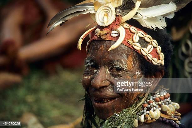 Papua New Guinea Sepik River Near Angoram Local Woman Smiling